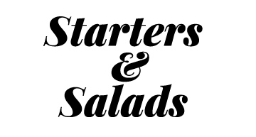 menu appetizers and salads